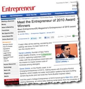 awards page