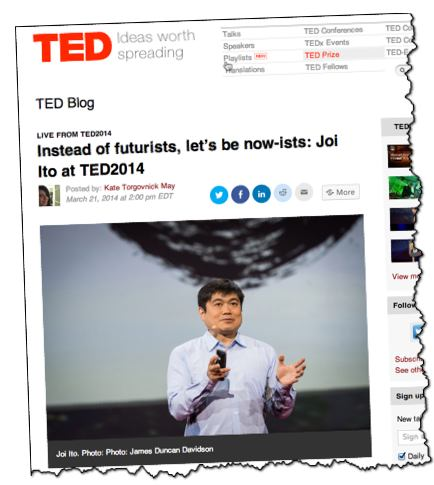 Joi Ito MIT Media Labs Ted Talk