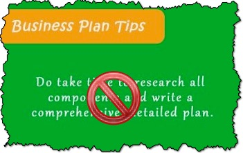 Business Plan Yes, Comprehensive and Detailed, Not So Much