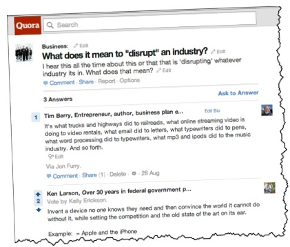 disrupt quora disruption