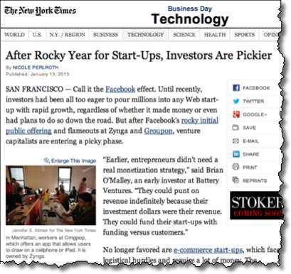 Investors pickier on startups