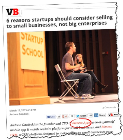 VentureBeat on Startups