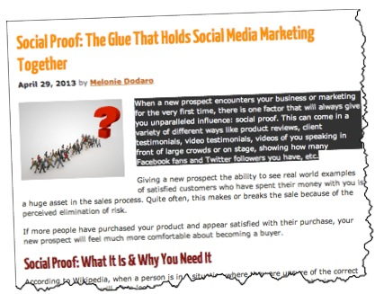 social proof blog post