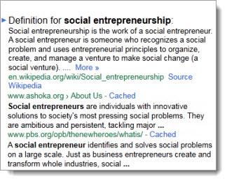 IDS 321 Social Entrepreneurship
