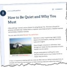 how-to-be-quiet