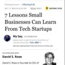 Small Business Lessons from High Tech