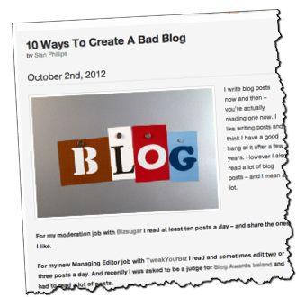 A Nice Top 10 List on Bad Blog...