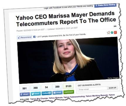 Marissa Mayer CEO of Yahoo Huffington Post
