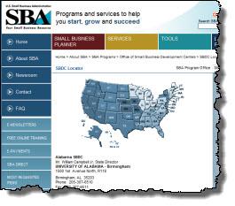 SBDC Map