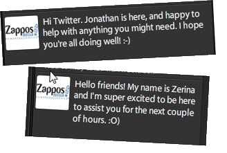 Zappos on Twitter