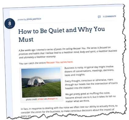 John Jantsch How to be quiet