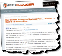 A Quick, Practical, Business Plan for a Blog | Bplans