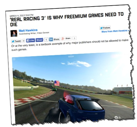 Real Racing 3 complaints