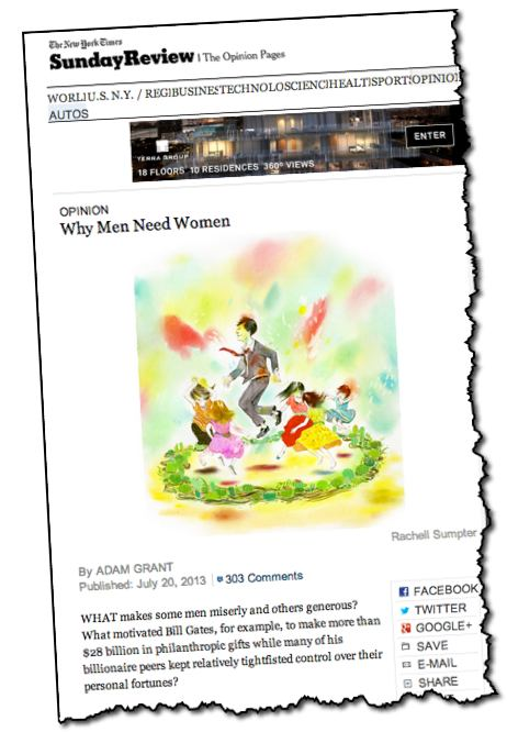 New York Times Opinion Why Men Need Women