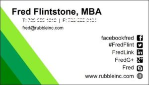 Put your mba into your work not your title planning startups mba business card colourmoves