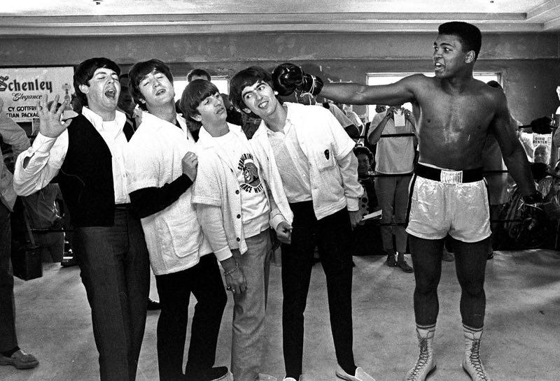 Beatles andMuhammad Ali